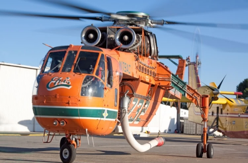 Elvis Fire Fighting Helicopter