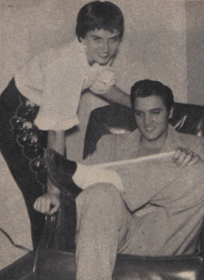 June Juanico with Elvis