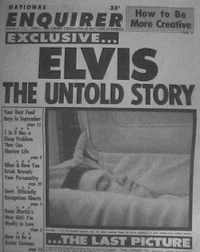 Elvis Coffin Picture - Elvis in Casket