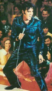 Elvis Black Leather Suit
