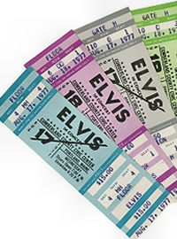 Elvis Last Concert Tickets 1977