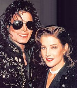 Michael Jackson and wife Lisa Marie Presley