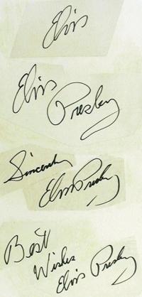 Elvis Autographs Examples
