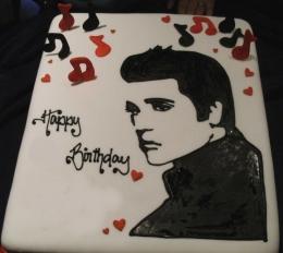 Cake Stencil Elvis