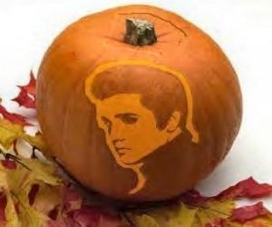 Elvis Halloween Pumpkin