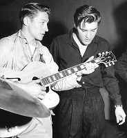 Scoot Moore with Elvis