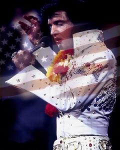 Flag Day Elvis American Flag