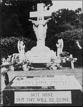 Gladys Presley Grave Site with Star of David
