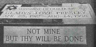Gladys Presley Gravesite, Elvis Mother's Grave