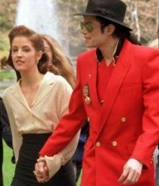 Michael Jackson and Lisa Marie Presley at Neverland