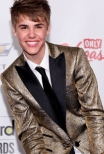 Justin Bieber Gold Lame Suit