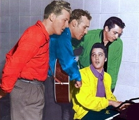 Million Dollar Quartet Elvis Presley Jerry Lee Lewis Johnny Cash Carl Perkins