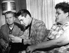 Elvis Vernon and Gladys Presley