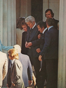 Celebrities at Elvis Presley Funeral