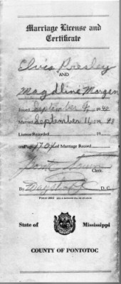 Elvis Presley Wedding Certificate