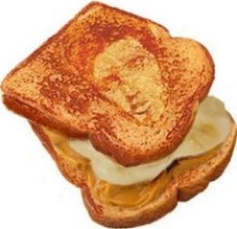 Elvis Sandwich Stencil
