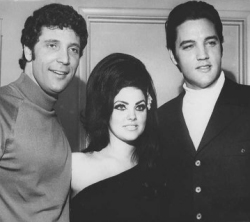 Elvis, Tom Jones and Prsicilla Presley