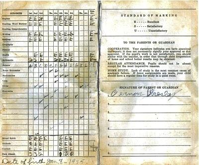 Elvis Presley - Report Card