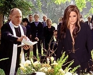 Lisa Marie Presley at Michael Jackson Funeral