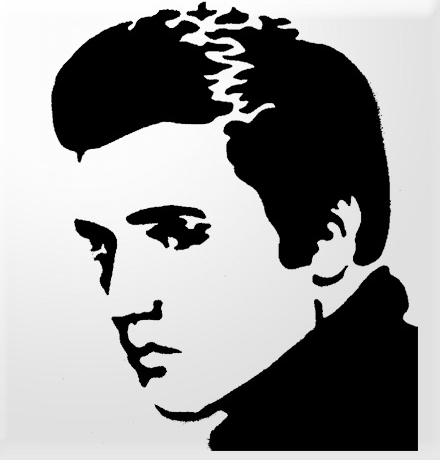Elvis Pumpkin Stencil